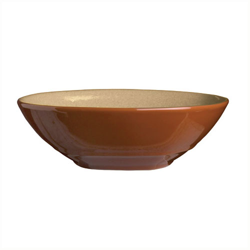 Syracuse China 922222353 21-oz Round Bowl, Terracotta Clay, 2-Tone, Pine, 7.12x2""