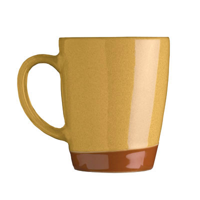 Syracuse China 922222354 14-oz Mug, Terracotta Clay, 2-Tone, Pine
