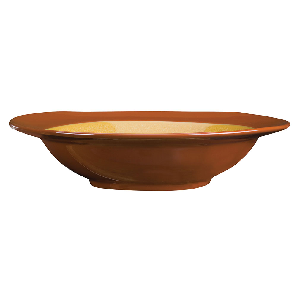 Syracuse China 922222357 30.5-oz Round Pasta Bowl, Terracotta Clay, 2-Tone, Pine