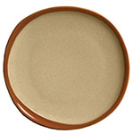 "Syracuse China 922222358 12"" Terracotta Plate - Organic Shape, 2-Tone Pine/Tan"