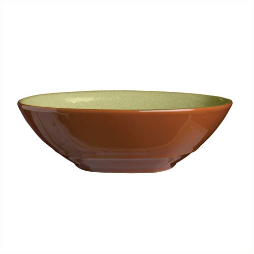 "Syracuse China 922224353 21-oz Round Bowl, Terracotta Clay, 2-Tone, 7.12x2"", Fern"