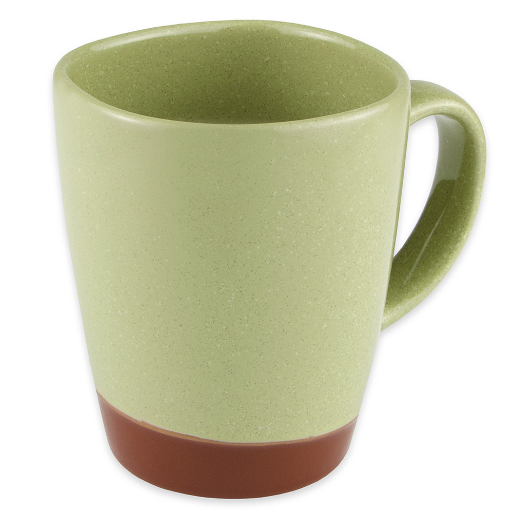 Syracuse China 922224354 14-oz Mug, Terracotta Clay, 2-Tone, Fern