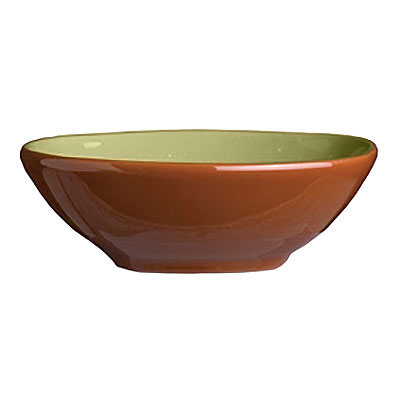 Syracuse China 922224355 4-oz Round Bowl, Terracotta Clay, 2-Tone, 4.12x1.25-in, Fern