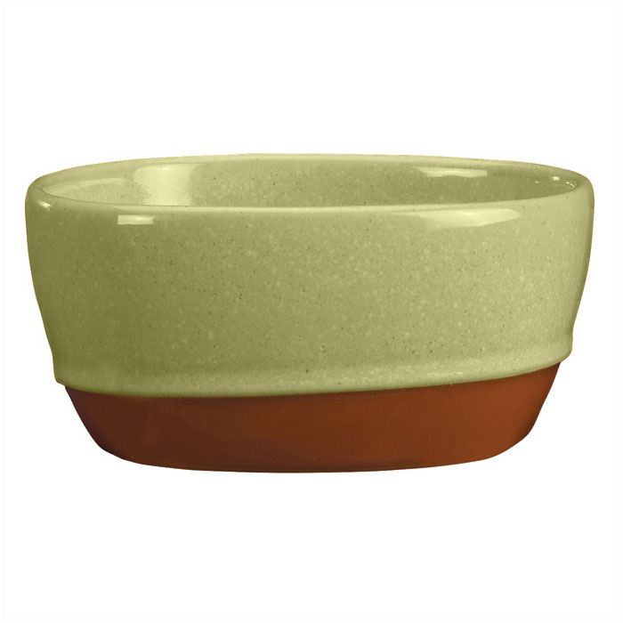 Syracuse China 922224356 9.5-oz Round Bouillon, Terracotta Clay, 2-Tone, Fern