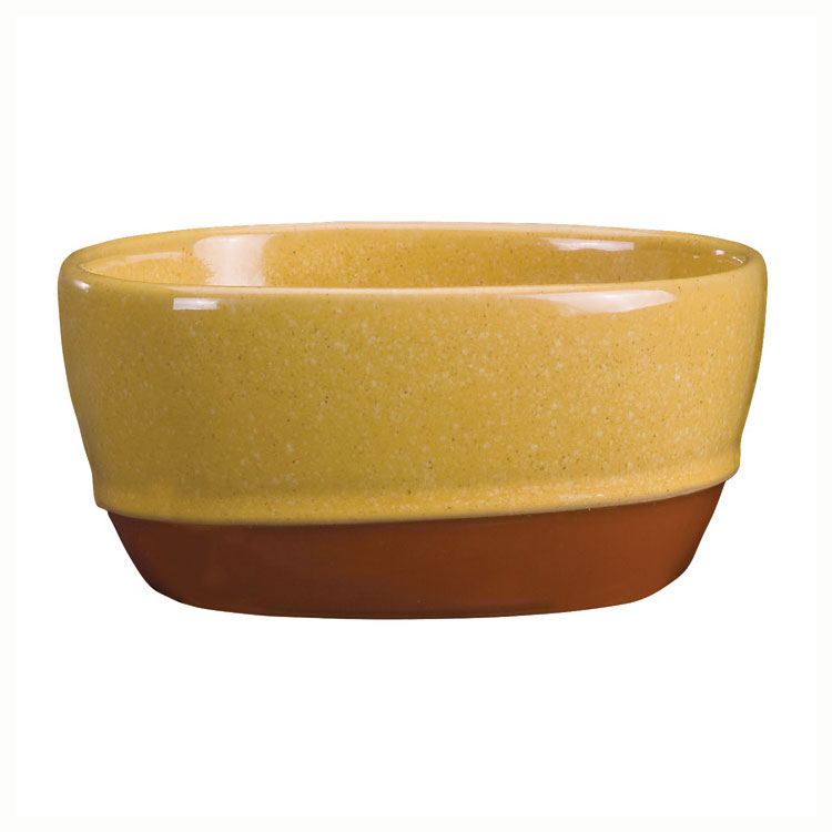 Syracuse China 922226356 9.5-oz Round Bouillon, Terracotta Clay, 2-Tone, Mustard Seed Yellow