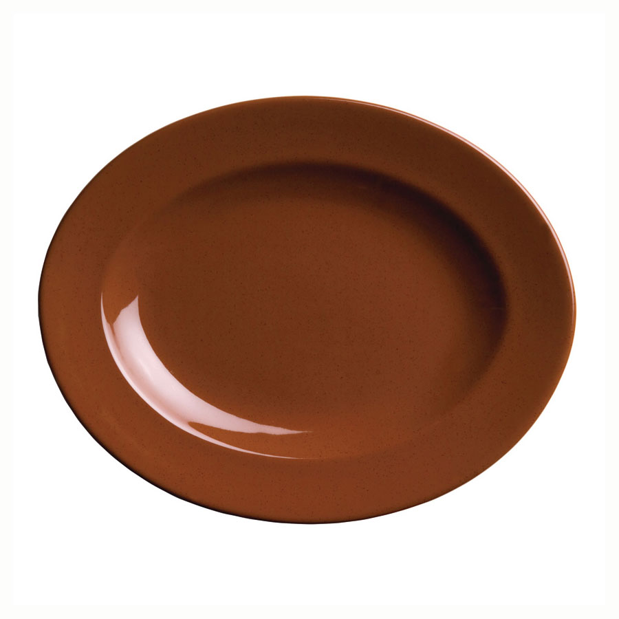Syracuse China 922229700 Oval Platter w/ Wide Rim, Clay, 13x10.25-in, Terracotta