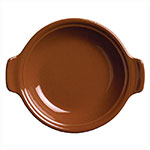 Syracuse China 922229800 11.25-oz Baker, Round Handled Bowl, Clay, Terracotta