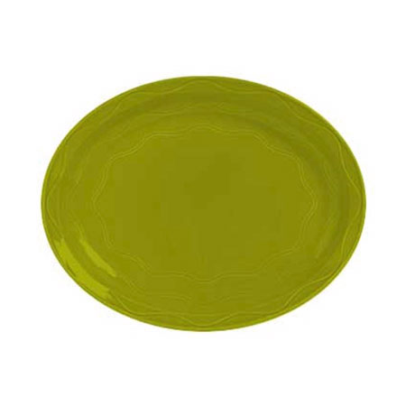 "Syracuse China 923036001 13-5/8"" Cantina Platter - Oval, Glazed, Limon"