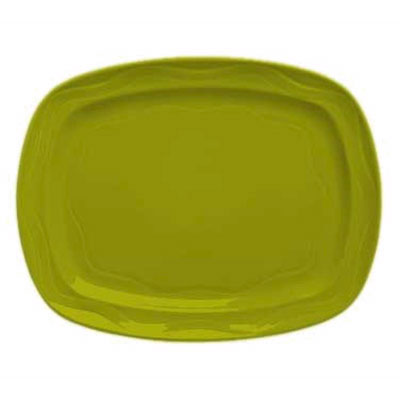 "Syracuse China 923036640 12-1/2"" Cantina Racetrack Platter - Glazed, Limon"