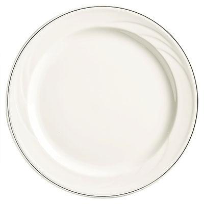 "Syracuse China 927659367 12-1/4"" Royal Rideau Plate - Round, White"