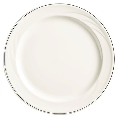 "Syracuse China 927659372 6-1/4"" Royal Rideau Plate - Round, White"