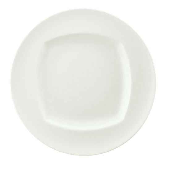 "Syracuse China 9320028 11"" Round Plate - Event Patter, Porcelain, White"