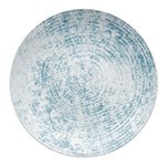 "Syracuse China 9331232-63072 12.63"" Shabby Chic Plate - Coupe, Porcelain, Structure Blue"