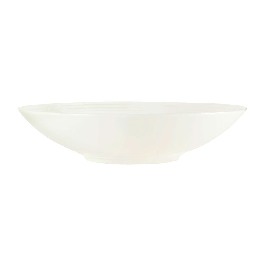 "Syracuse China 935550 107 11.25"" Round Pasta Bowl w/ 16-oz Capacity, Atherton, White"