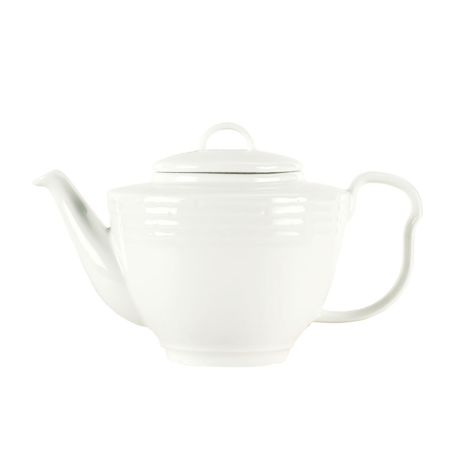 Syracuse China 935550 120 15-oz Teapot - Embossed Rim, Porcelain, Atherton, White