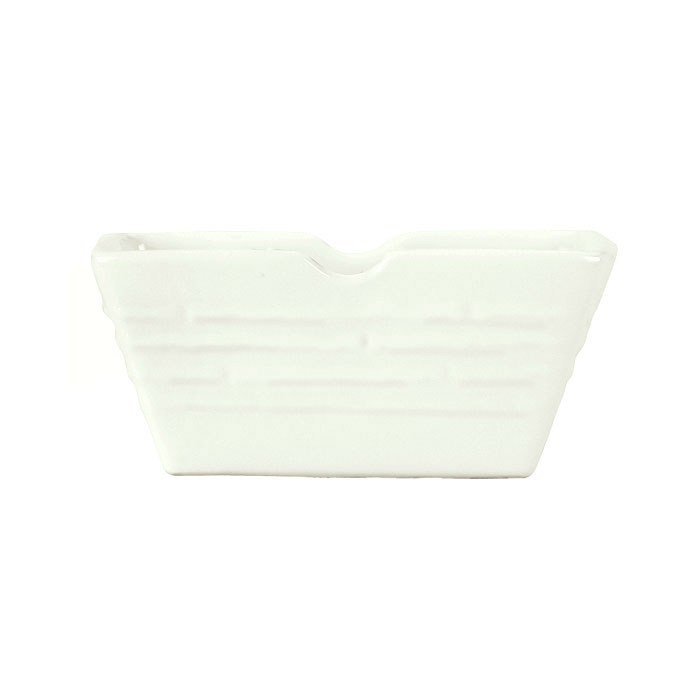 "Syracuse China 935550 121 Sugar Packet Holder - Embossed Rim, Porcelain, 3.5x2.5"", Atherton, White"