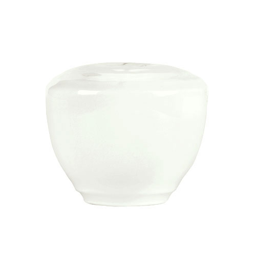 "Syracuse China 935550 128 Salt Shaker - Embossed Rim, Porcelain, 2x1.75"", Atherton, White"