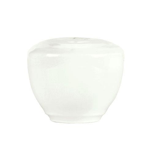 "Syracuse China 935550 129 Pepper Shaker - Embossed Rim, Porcelain, 2x1.75"", Atherton, White"