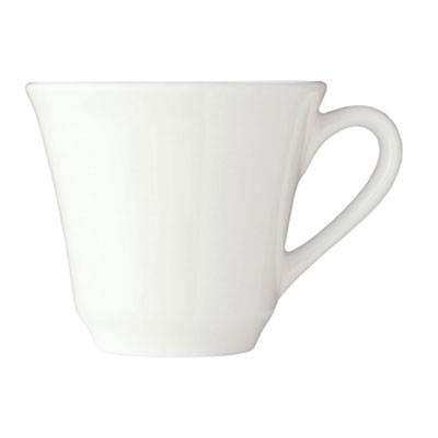 Syracuse China 950002507 9-oz Stacking Tea Cup, Royal Rideau, Undecorated, White