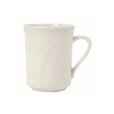 Syracuse China 950038005 8.5-oz. Mug w/ Cascade Pattern & Turina Shape, Flint Body