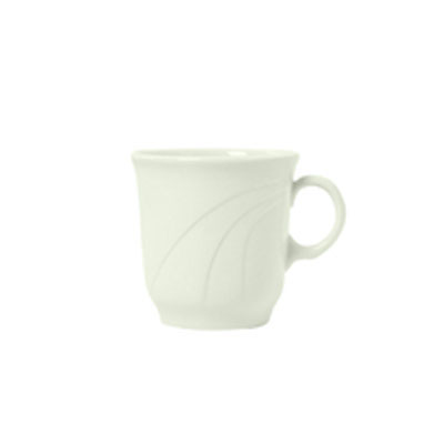 Syracuse China 950038127 7-oz Tall Tea Cup w/ Cascade Pattern & Turina Shape, Flint Body