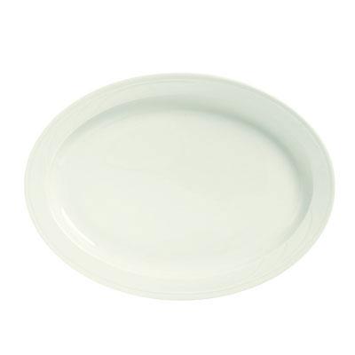 Syracuse China 950038425 Platter w/ Cascade Pattern & Turina Shape, Flint Body, 12.12x8.62-in