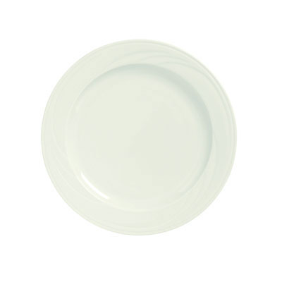 "Syracuse China 950038871 10.62"" Plate w/ Cascade Pattern & Slenda Turina Shape, Flint Body"