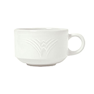 Syracuse China 950041113 7-oz Stacking Cup w/ Cafe Royal Pattern & Tremont Shape, Syralite Body