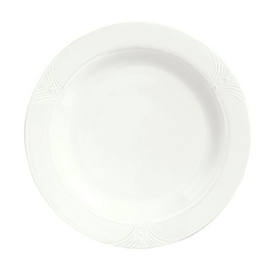 "Syracuse China 950041313 9.75"" Plate w/ Cafe Royal Pattern & Tremont Shape, Syralite Body"