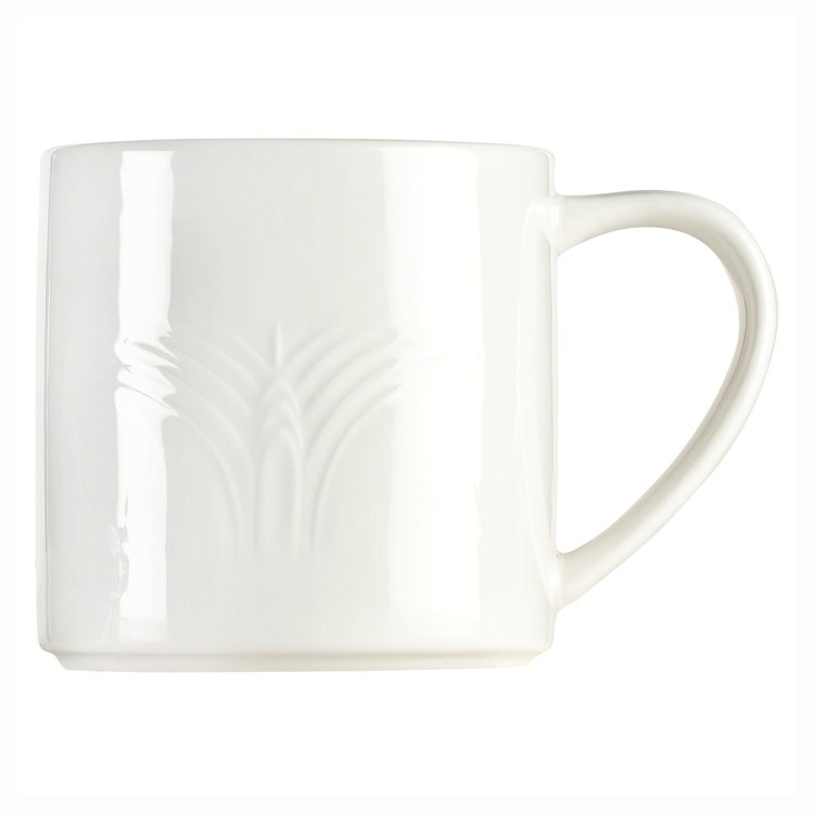Syracuse China 950041506 12-oz Royal Rideau Mug - Cafe Royal, White