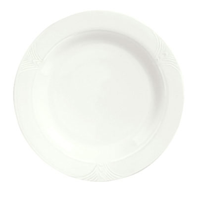 Syracuse China 950041519 10.62-in Plate w/ Cafe Royal Pattern & Tremont Shape, Syralite Body