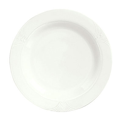 "Syracuse China 950041521 7.38"" Plate w/ Cafe Royal Pattern & Tremont Shape, Syralite Body"