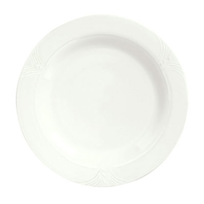 "Syracuse China 950041526 6.38"" Plate w/ Cafe Royal Pattern & Tremont Shape, Syralite Body"