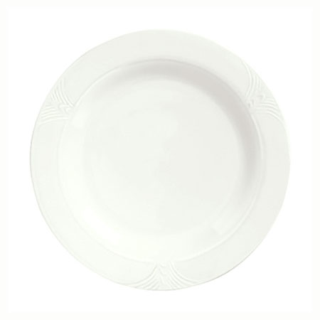 "Syracuse China 950041544 5.62"" Plate w/ Cafe Royal Pattern & Tremont Shape, Syralite Body"
