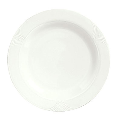 "Syracuse China 950041547 9"" Plate w/ Cafe Royal Pattern & Tremont Shape, Syralite Body"