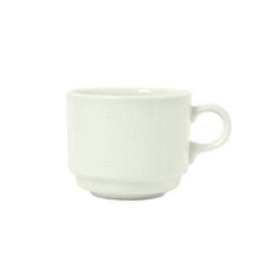 Syracuse China 950093114 8-oz Stacking Cup w/ Undecorated Pattern & A La Carte Shape, Flint, Sugar White