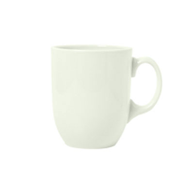 Syracuse China 950093371 15-oz Mug w/ Undecorated Pattern & Studio Shape, Flint, Sugar White