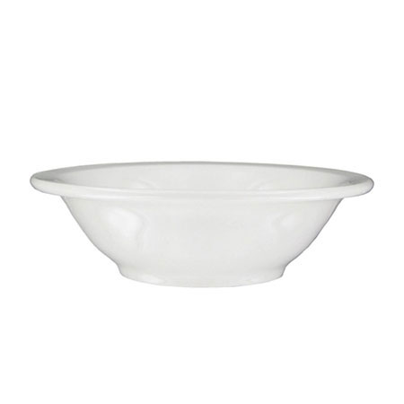 Syracuse China 951250014 9-oz Grapefruit Bowl w/ Undecorated Pattern & Morwel Shape, Flint Body, White