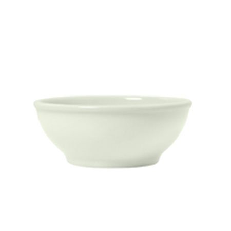 "Syracuse China 951250250 18.37"" Oatmeal Nappy Bowl w/ Rolled Edge, Undecorated, Flint Body, White"