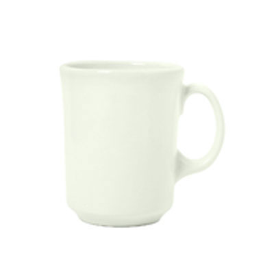 Syracuse China 951250277 12-oz Cafe  Mug w/ Undecorated Pattern & New Port Shape, Flint Body, White