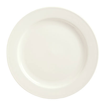 "Syracuse China 951250381 12"" Round Plate w/ Rolled Edge, Flint Body"