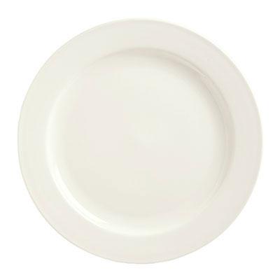 "Syracuse China 951250381 12"" Round Plate w/ Rolled Edge, Flint Body"