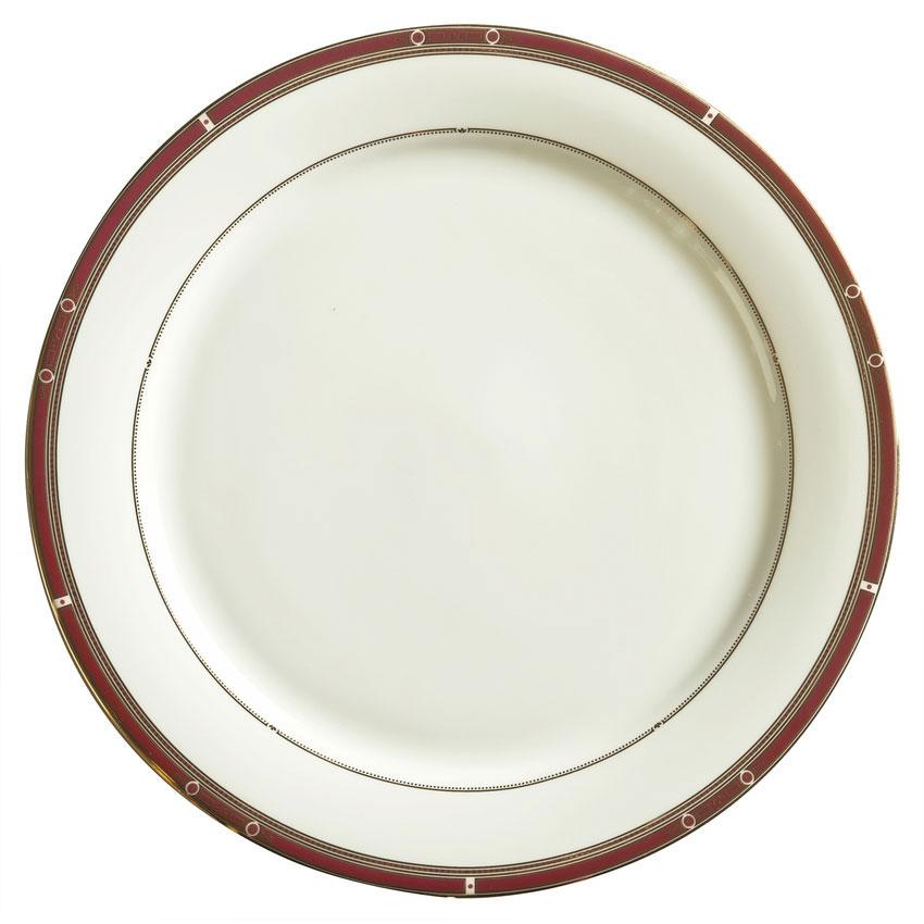 """Syracuse China 954321002 7-3/4"""" Barrymore Plate - Round, Glazed, White"""