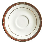 "Syracuse China 954321012 6"" Barrymore Saucer - Round, Glazed, White"