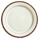 "Syracuse China 954321020 12-1/4"" Barrymore Plate - Round, Glazed, White"