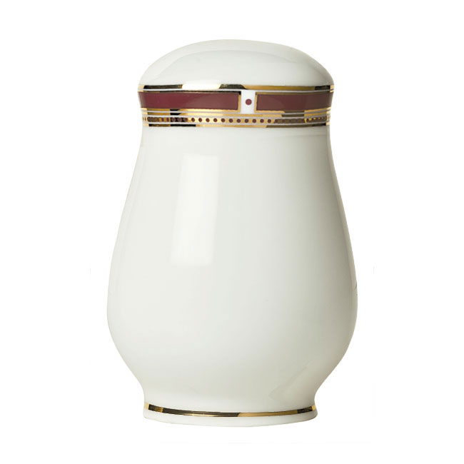 "Syracuse China 954321027 2-1/4"" Barrymore Pepper Shaker - Glazed, White"