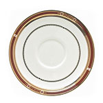 "Syracuse China 954321031 6"" Barrymore Stacking Saucer - Round, Glazed, White"