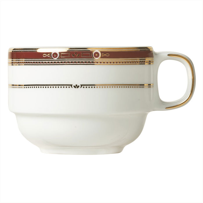 Syracuse China 954321032 8-1/2-oz Barrymore Cup - Glazed, White