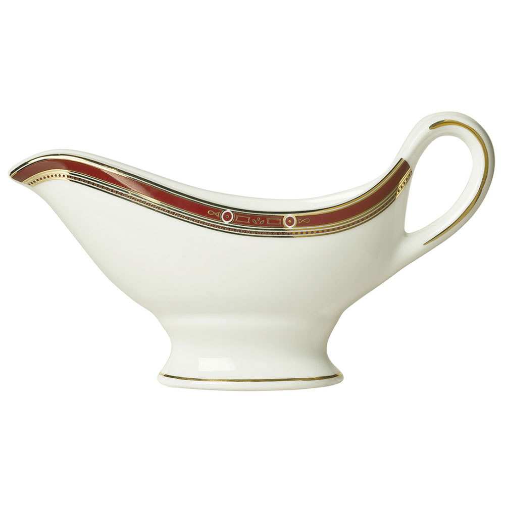 Syracuse China 954321034 6-oz Barrymore Sauce Boat - Glazed, White