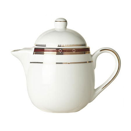 Syracuse China 954321040 15-oz Barrymore Tea Pot - Lid, Glazed, White